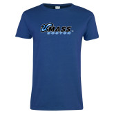 Ladies Royal T Shirt-UMass Boston Horizontal