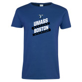 Ladies Royal T Shirt-UMass Boston Beacons Athletics Banners