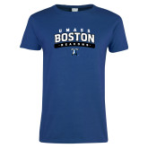 Ladies Royal T Shirt-Arched UMass Boston Beacons