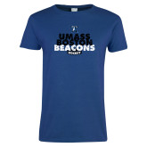 Ladies Royal T Shirt-UMass Boston Beacons Hockey Distressed
