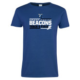 Ladies Royal T Shirt-Beacons Track and Field Stacked