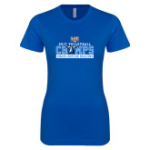 Next Level Ladies SoftStyle Junior Fitted Royal Tee-2017 Volleyball Champs