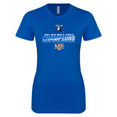 Next Level Ladies SoftStyle Junior Fitted Royal Tee-Umass Boston 2017 2013 Mens Tennis Champs