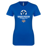 Next Level Ladies SoftStyle Junior Fitted Royal Tee-Umass Boston 2012 Womens Soccer Champs