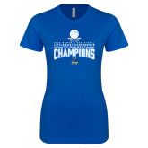 Next Level Ladies SoftStyle Junior Fitted Royal Tee-2018 Womens Basketball Champions
