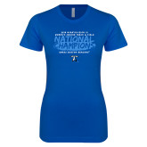Next Level Ladies SoftStyle Junior Fitted Royal Tee-2018 Womens Indoor Track and Field Champions - Brush
