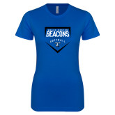 Next Level Ladies SoftStyle Junior Fitted Royal Tee-Beacons Softball Plate