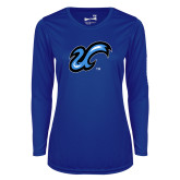 Ladies Syntrel Performance Royal Longsleeve Shirt-The U