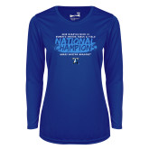 Ladies Syntrel Performance Royal Longsleeve Shirt-2018 Womens Indoor Track and Field Champions - Brush