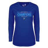 Ladies Syntrel Performance Royal Longsleeve Shirt-2018 Womens Indoor Track and Field Champions - Box