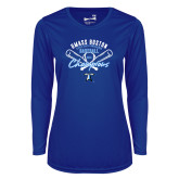 Ladies Syntrel Performance Royal Longsleeve Shirt-2018 Baseball Champions