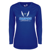 Ladies Syntrel Performance Royal Longsleeve Shirt-2018 Womens Outdoor Track and Field Champions
