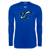 Under Armour Royal Long Sleeve Tech Tee-The U