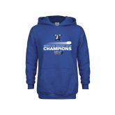 Youth Royal Fleece Hoodie-Umass Boston 2016 Mens Ice Hockey Champs