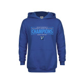Youth Royal Fleece Hoodie-2018 Womens Indoor Track and Field Champions - Box