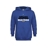 Youth Royal Fleece Hoodie-UMass Boston Beacons Hockey Distressed