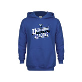 Youth Royal Fleece Hoodie-UMass Boston Beacons Hockey Slanted