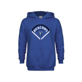 Youth Royal Fleece Hoodie-Beacons Baseball Stencil Diamond