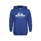 Youth Royal Fleece Hoodie-UMass Boston Soccer Stacked