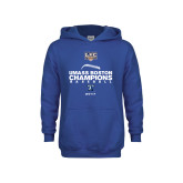 Youth Royal Fleece Hoodie-Umass Boston 2017 Baseball Champs