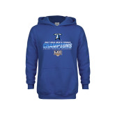 Youth Royal Fleece Hoodie-Umass Boston 2017 2013 Mens Tennis Champs