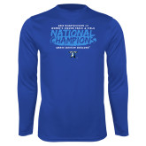 Performance Royal Longsleeve Shirt-2018 Womens Indoor Track and Field Champions - Brush