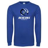 Royal Long Sleeve T Shirt-Beacons Tennis Abstract Ball