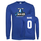 Royal Long Sleeve T Shirt-Primary Logo, Custom Tee w/ Name and #