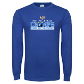 Royal Long Sleeve T Shirt-2017 Volleyball Champs