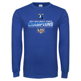 Royal Long Sleeve T Shirt-Umass Boston 2017 2013 Mens Tennis Champs