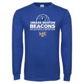 Royal Long Sleeve T Shirt-Umass Boston 2017, 2016, 2015, 2013, 2012, 2011, 2010, Volleyball Champs