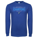 Royal Long Sleeve T Shirt-2018 Womens Indoor Track and Field Champions - Box