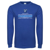 Royal Long Sleeve T Shirt-2018 Womens Outdoor Track and Field Champions