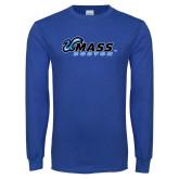 Royal Long Sleeve T Shirt-UMass Boston Horizontal
