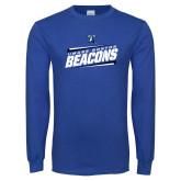 Royal Long Sleeve T Shirt-Slanted Beacons Stencil