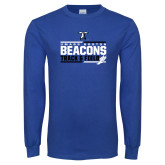 Royal Long Sleeve T Shirt-Beacons Track and Field Stacked