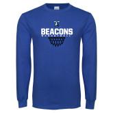 Royal Long Sleeve T Shirt-Beacons Basketball Net