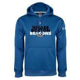 Under Armour Royal Performance Sweats Team Hoodie-UMass Boston Beacons Hockey Distressed