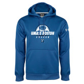 Under Armour Royal Performance Sweats Team Hoodie-UMass Boston Soccer Stacked