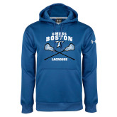 Under Armour Royal Performance Sweats Team Hoodie-UMass Boston Lacrosse Crossed Sticks