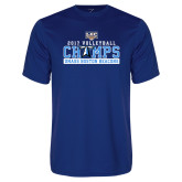 Performance Royal Tee-2017 Volleyball Champs