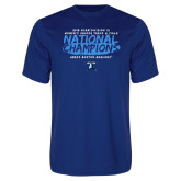 Performance Royal Tee-2018 Womens Indoor Track and Field Champions - Brush