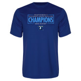 Performance Royal Tee-2018 Womens Indoor Track and Field Champions - Box