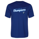 Performance Royal Tee-2018 Womens Indoor Track and Field Champions - Script