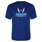 Performance Royal Tee-2018 Womens Outdoor Track and Field Champions