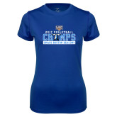 Ladies Syntrel Performance Royal Tee-2017 Volleyball Champs