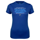 Ladies Syntrel Performance Royal Tee-2018 Womens Indoor Track and Field Champions - Brush