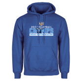 Royal Fleece Hoodie-2017 Volleyball Champs