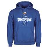 Royal Fleece Hoodie-Umass Boston Baseball Champs