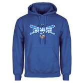 Royal Fleece Hoodie-Umass Boston Softball Champs